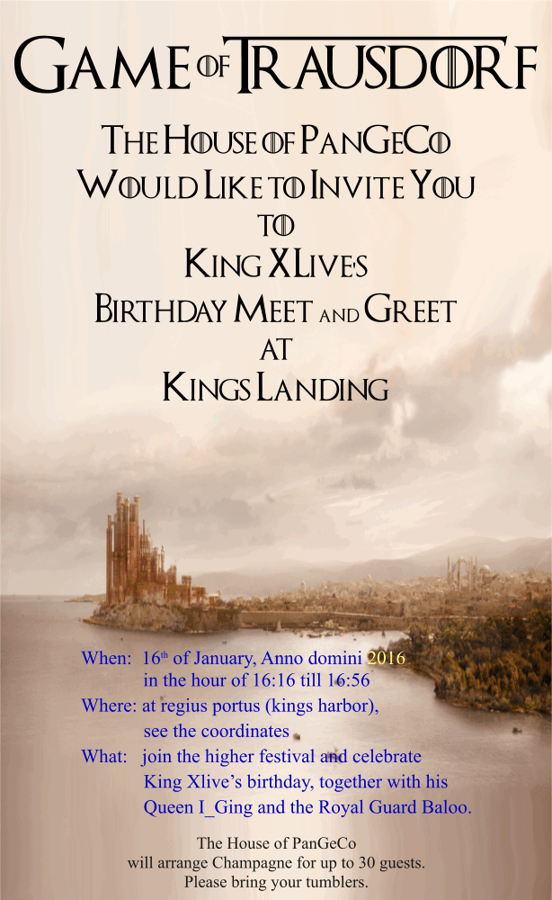 King XLive's Birthday @ Kings Landing - PGC - GC68HE5